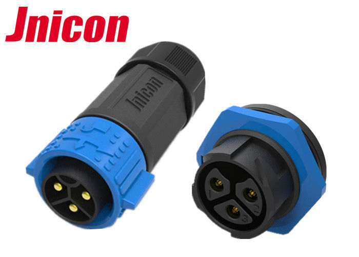 30A 500V Waterproof Power Connector , Jnicon Panel Mount Power Connector
